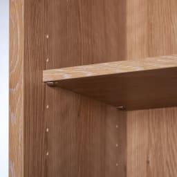 天然木調テレビ台ハイバックシリーズ 扉キャビネット・幅45.5奥行34.5cm 可動棚4枚付き