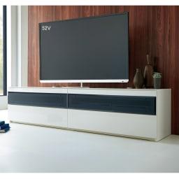 パモウナBW-200 輝く光沢のモダンリビングシリーズ テレビ台 幅200cm シンプルで無駄のない、機能美に満ちたデザイン。