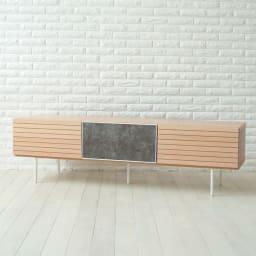 セラミック調ガラスのスタイリッシュテレビ台 幅150cm (イ)オーク