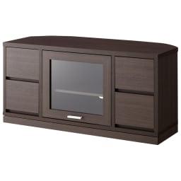 角度が自由自在の収納充実コーナーテレビ台 幅100高さ50cm (ア)ダークブラウン