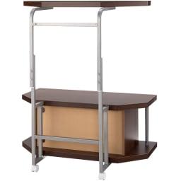 テレビ上の空間を有効活用できるシリーズ コーナー用テレビ台 幅90cm・棚1段 (背面)