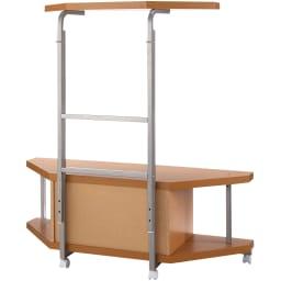 テレビ上の空間を有効活用できるシリーズ コーナー用テレビ台 幅120cm棚1段 (背面)