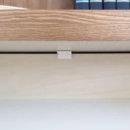 ホームライブラリーシリーズ デスク 幅80cm 高さ180cm 引き出しにはストッパー付き。