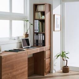 天然木調 薄型コンパクトオフィスシリーズ サイドラック・幅30cm 北欧スタイルの素材感ある天然木調の薄型サイドキャビネット。SOHOにおすすめな、北欧風のおしゃれな天然木調すき間収納ラックです。