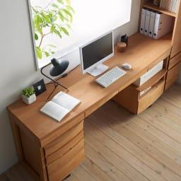 アルダー天然木 アールデザインデスクシリーズ デスク・幅80.5cm