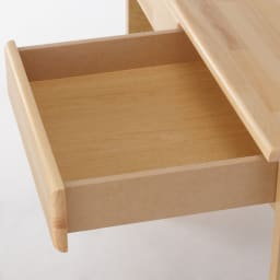 パイン天然木 薄型シンプルデスクシリーズ デスク 幅90cm 引き出しの内寸:幅39cm奥行33.5cm高さ6cm