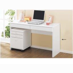 パイン天然木 薄型シンプルデスクシリーズ デスク 幅90cm (イ)ホワイト色見本 写真のデスクは幅120cmタイプです。