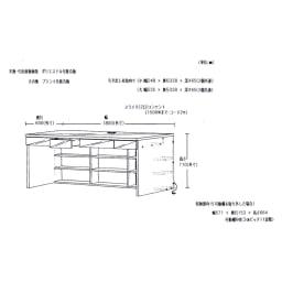 シンプルデスクシリーズ たっぷり奥行60cm深型デスク 幅180cm 【詳細図】