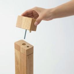 【円形】径75cm 4段階高さ調整 平面パネルヒーター円形こたつ 継脚は簡単に取り付けでき高さを変えられます。