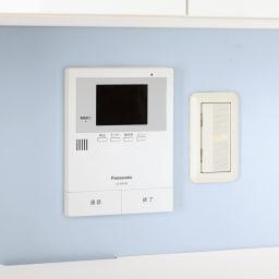 スイッチ避け壁面収納シリーズ スイッチよけタイプ(上台オープン・下台扉)幅75cm奥行40cm スイッチ類…オープン部は背板がないのでスイッチやモニター前にも設置可能。