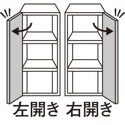 スイッチ避け壁面収納シリーズ 収納庫タイプ(上台扉付き・下台扉・背板あり)幅45cm奥行40cm 扉の開きを選べます。 右開き・左開きのいずれかをご指定ください。