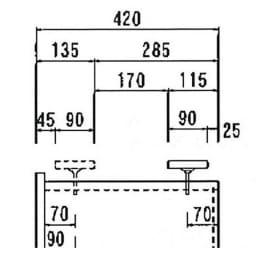 オーダー対応突っ張り式上置き(1cm単位) 幅60cm・高さ51~78cm