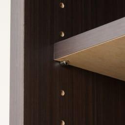 オーダー対応突っ張り式上置き(1cm単位) 幅75cm・高さ51~78cm 可動棚板は3cm間隔で調節可能。