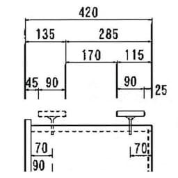 オーダー対応突っ張り式上置き(1cm単位) 幅75cm・高さ51~78cm