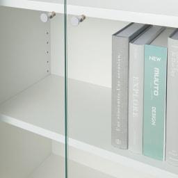 美しくしまうハイクラス壁面収納シリーズ テレビ台 幅121cm ガラス扉で「見せる」「ほこり対策」を両立。板棚タイプは本棚としても。写真集など、背表紙を見せたいものに。