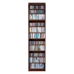 天井突っ張り式壁面ラック オープンタイプ上置き付き 幅60奥行20本体高さ235cm (幅60cm奥行20cm) ※文庫本約360冊収納