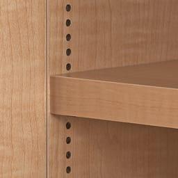 日用品もしまえる頑丈段違い書棚 ヴィンテージ木目調タイプ 書棚 幅40cm 棚板は1cm間隔の可動式。