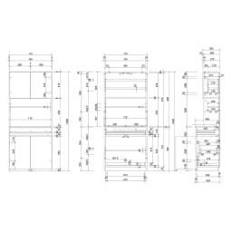 LEDライト付きコレクションシェルフ PCデスク 幅78cm