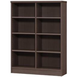 色とサイズが選べるオープン本棚 幅86.5cm高さ117cm (エ)ダークブラウン