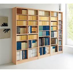 色とサイズが選べるオープン本棚 幅28.5cm高さ178cm 使用イメージ(ア)ライトナチュラル