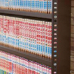 たっぷり収納!スチールラック スタンド式 CD用 幅90cm 可動棚板は2cm間隔で高さ調節が可能。