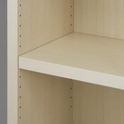 【完成品】重厚感のあるがっちり本棚シリーズ チェスト付き 幅75 天井対応高さ236~246 奥行45cm 可動棚は3cm間隔で高さ調整が可能。