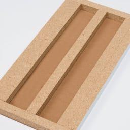 組立不要 天然木調棚板頑丈本棚 奥行19cm 芯材を補強して強度を大幅に高めました。