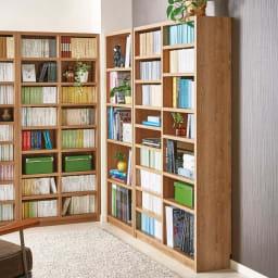 組立不要 天然木調棚板頑丈本棚 奥行29cm 奥行29cmタイプは雑誌やファイルなどの収納に適しており、書斎や子供部屋の学習机横の収納としておすすめ!
