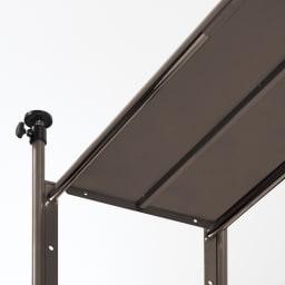 頑丈フレキシブル伸縮ラック 突っ張り式ハイ幅103~160cm 棚板裏に補強バーを施した頑丈構造。