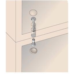 壁面間仕切りワードローブ 棚タイプ・幅80cm 【上置きジョイント】 上置と本体はジョイントネジでしっかり連結