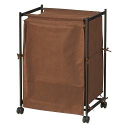 ワイシャツ・バッグ収納ラック バッグ用横型 (ア)ダークブラウン(カバーを閉じた状態)