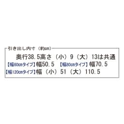 【日本製】前面光沢&引き出し内部化粧チェスト  幅120cm・5段 引き出し内寸