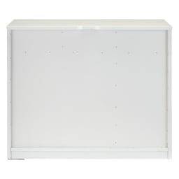 LEDライト付きドレッサーシリーズ キャビネット 幅60cm・高さ72cm 背面。 ※写真は幅90cmタイプです。