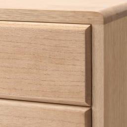 自分仕様に造れる 総桐ユニット箪笥 衣類収納箪笥5段 天板の角は丸みのある優しい仕上げ。天板、前板、側板は厚み17ミリの頑丈仕様です。