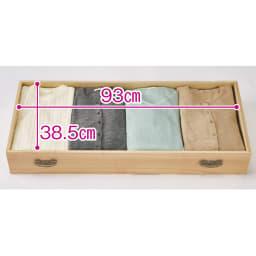 柿渋仕上げ隠しキャスターチェスト 幅100cm・4段 大判のたとう紙を折らずに収納できます。 ※引き出し内寸高さは12cm。