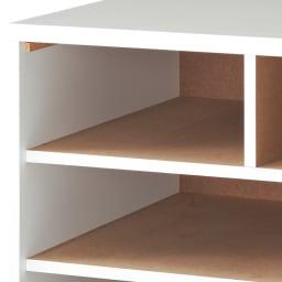 奥行が選べる隠しキャスター付きチェスト 深めのクローゼットタイプ 奥行60幅75高さ58.5cm・3段 総地板 全段奥まで地板があり、衣類がひっかかりにくい仕様。