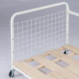 頑丈幅伸縮すのこ布団台シリーズ クローゼット棚2段