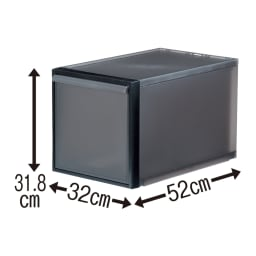 クローゼットシステム 引き出しタイプ 2個組 2個組 (イ)クリアブラック