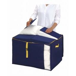 コンパクトにスッキリ納まる布団収納袋 L・同色2個組