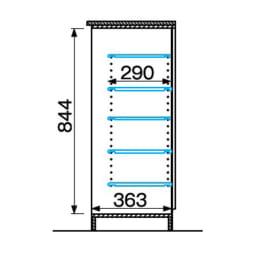 インテリアに合わせて8色&13タイプから選べるシューズボックス 幅60高さ95.5cm 詳細図(単位:mm)