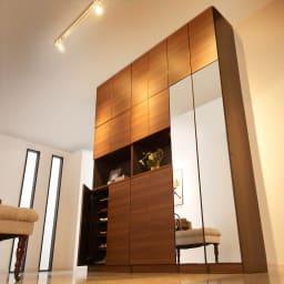 インテリアに合わせて8色&13タイプから選べるシューズボックス オープン 幅75高さ180.5cm
