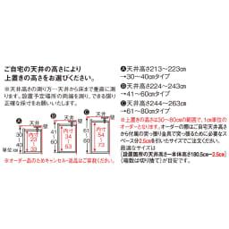 インテリアに合わせて8色&13タイプから選べるシューズボックス 上置き 幅60高さ30~80cm 【オーダーPoint】