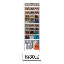 エントランス納戸シューズボックス 棚のみ 幅60cm (イ)ホワイト 非常用持ち出し袋やストック用の水などの防災用品置き場に。