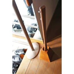 天然木ロング靴ベラ&スタンドセット