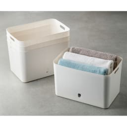 ナチュラインボックスソフトタイプ (イ)L型4個組 キッチン以外でも用途いろいろ。