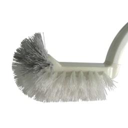 スリムトイレポット(替えブラシ3本付き) ブラシは先端が湾曲した形状。トイレの溝のお掃除もラクラク。