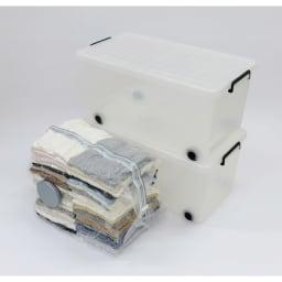 スティック掃除機対応圧縮袋5枚組 イメージ:圧縮後