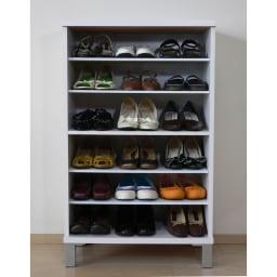 靴・ブーツ収納クリアケース(シリカゲルシート付き) 【before】下駄箱のデッドスペースも