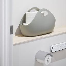ENOTS/エノッツ インテリアバッグ バスケット 3個セット 樹脂製なので、水回りでの使用も可能です