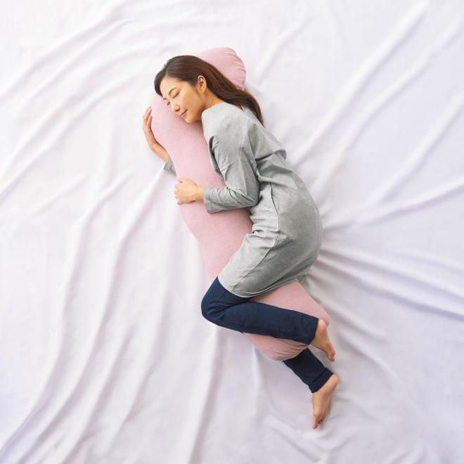 快適な寝姿勢をサポート 新 魔法の抱き枕(R) 抱き枕 (ア)グレイッシュピンク